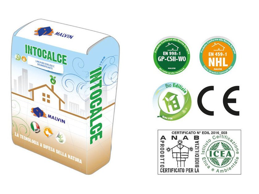 Natural plaster for sustainable building INTOCALCE by malvin