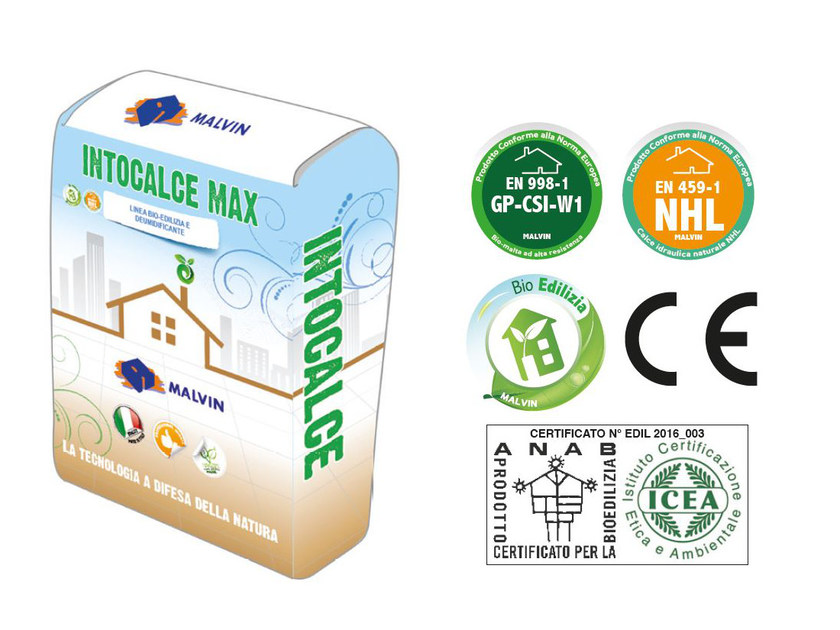Natural plaster for sustainable building INTOCALCE MAX by malvin