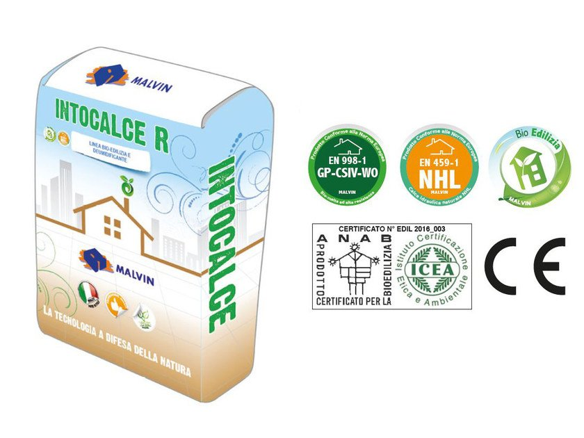 Natural plaster for sustainable building INTOCALCE R by malvin