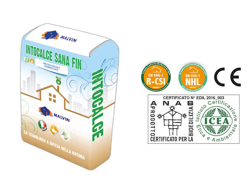 Natural plaster for sustainable building INTOCALCE SANA FIN I by malvin