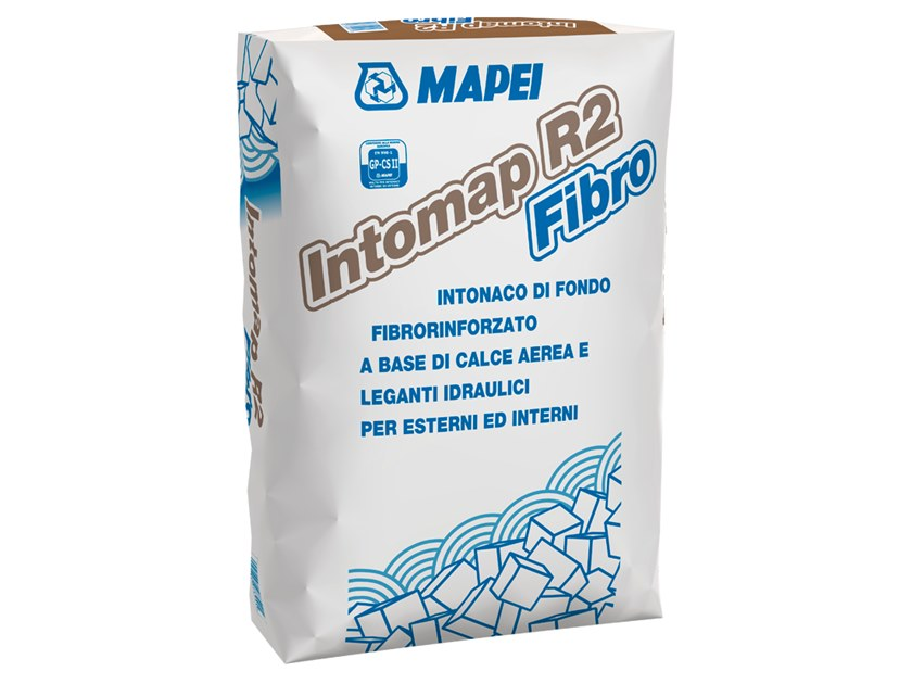 Fibre-reinforced and special plaster INTOMAP R2 FIBRO by MAPEI