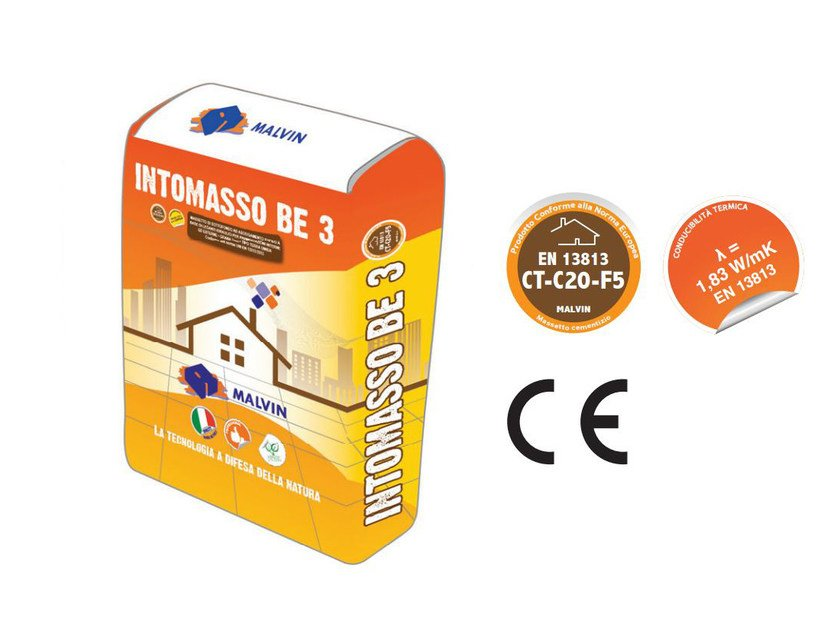 Pre-mixed screed INTOMASSO BE 3 by malvin