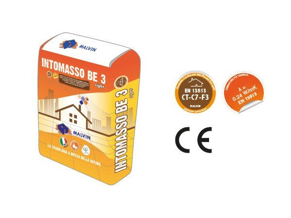 Thermo insulating mortar INTOMASSO BE3 LIGHT by malvin