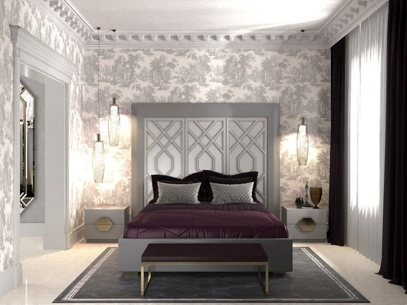 Bed double bed with high headboard INTRIGUE | Bed double bed by Scandal