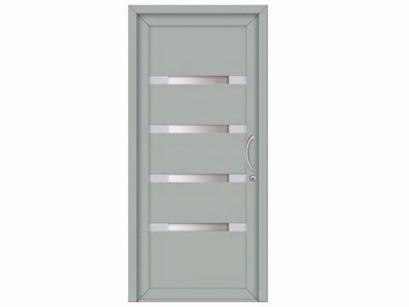 Exterior glazed PVC entry door INTRO BREST by FOSSATI PVC