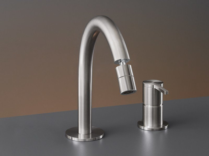 Two-hole mixer with adjustable spout INV 41 by Ceadesign