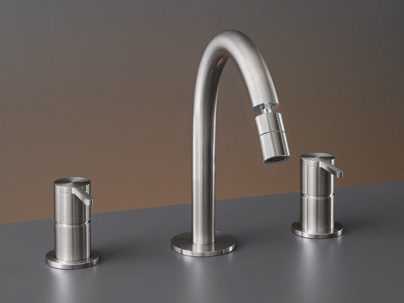 Three-hole mixer with adjustable spout INV 44 by Ceadesign