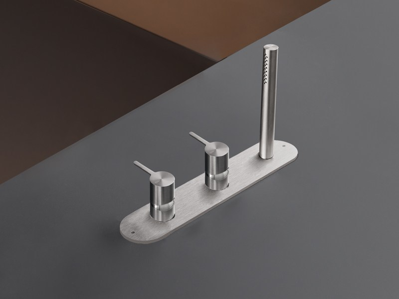 Rim mounted set of 2 mixers with hand shower INV 55 by Ceadesign