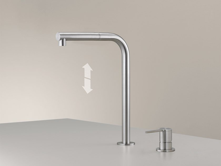 2 hole kitchen mixer tap with pull out spray INV 85 by Ceadesign