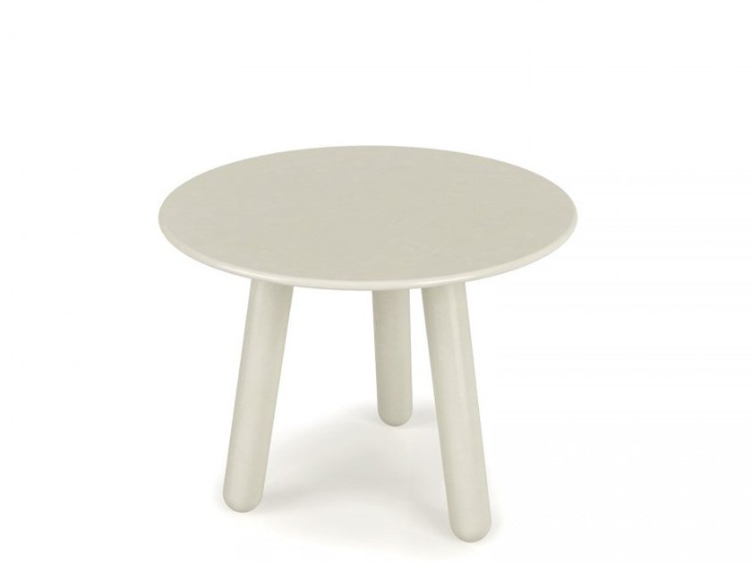 Lacquered birch round side table INVERSE | Lacquered coffee table by Huppé