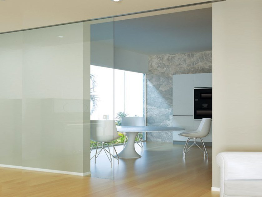 Sliding door track INVISIBILE EVOLUTION OPTIONAL SOFT CLOSE by Metalglas Bonomi