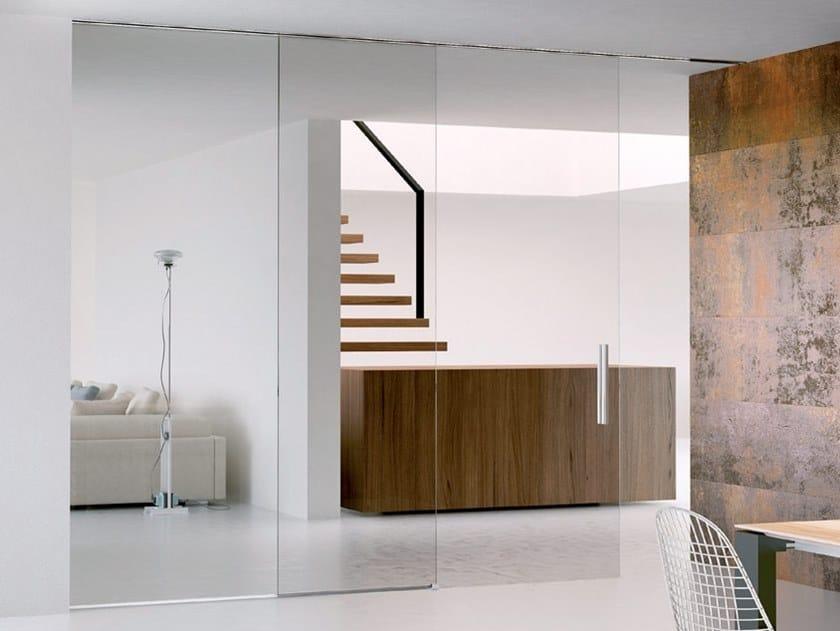 Sliding door track INVISIBILE OPTIONAL SOFT CLOSE by Metalglas Bonomi
