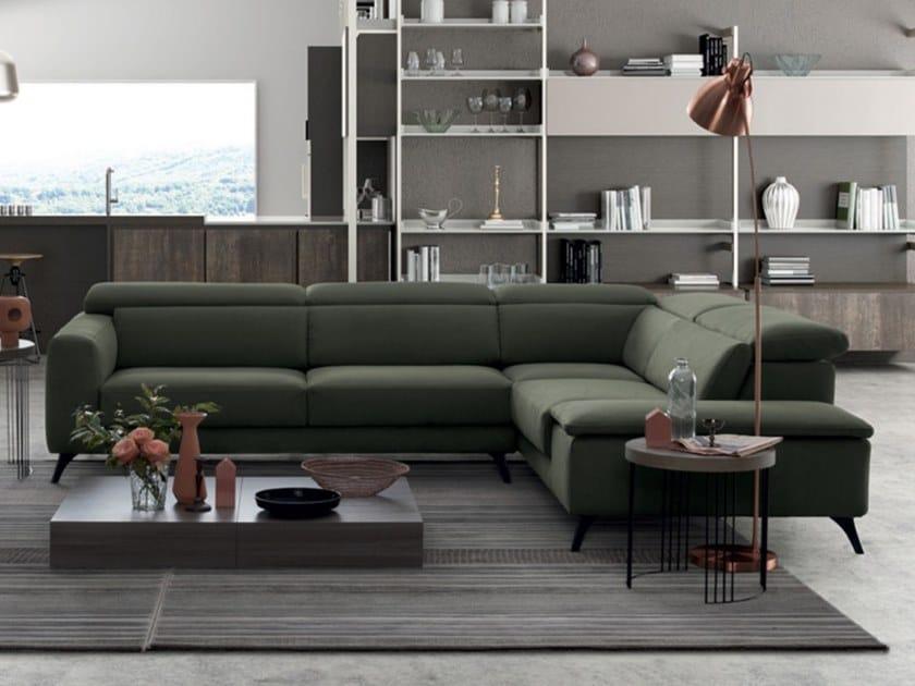 Divano angolare reclinabile in tessuto INVITO 02 by Febal Casa