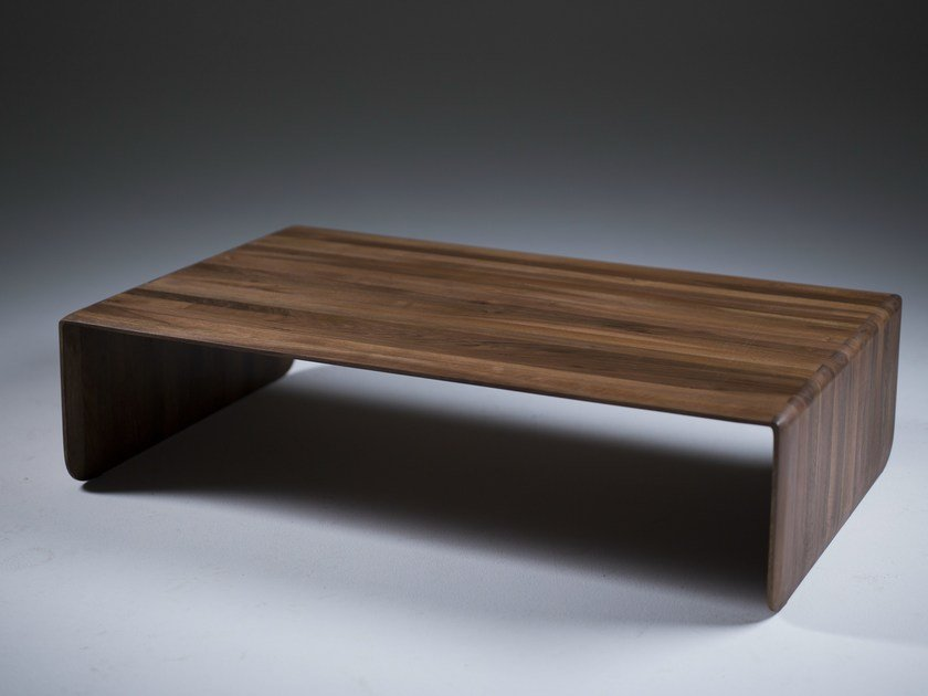 Low Rectangular Solid Wood Coffee Table Invito By Artisan
