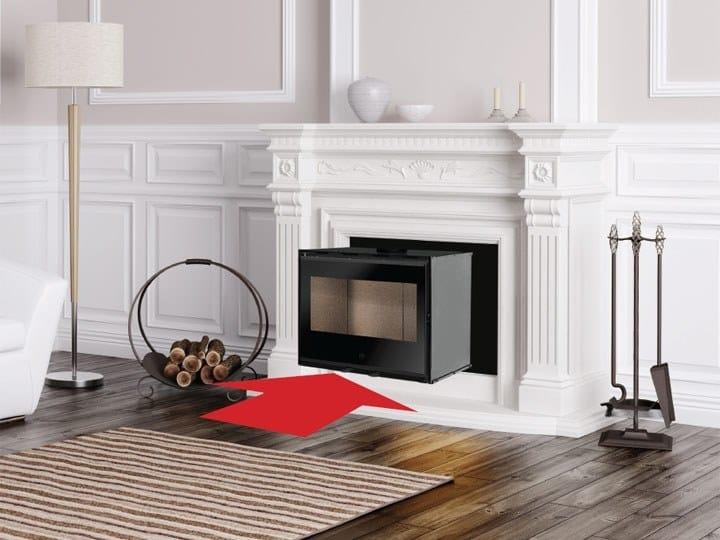 Wood-burning Fireplace insert INWOOD by EDILKAMIN