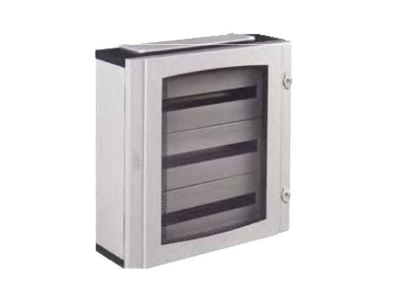 Glass door cabinet IP40 DISTRIBUTION BOARD 72 MODULE 3 ROW by Garo