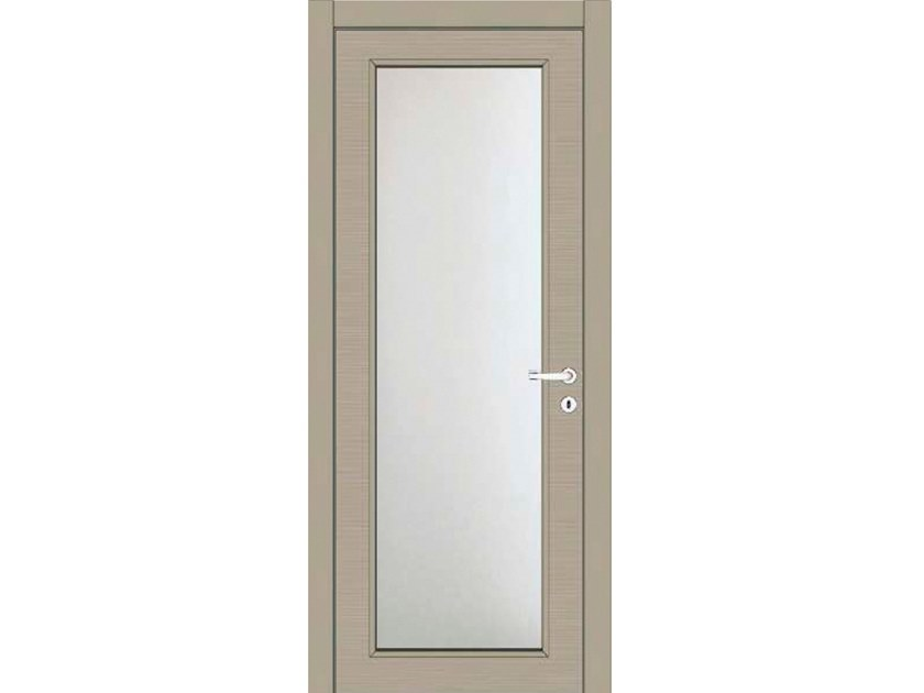 Hinged wood and glass door IRIDE 13V1 LACCATO CALCE by GD DORIGO