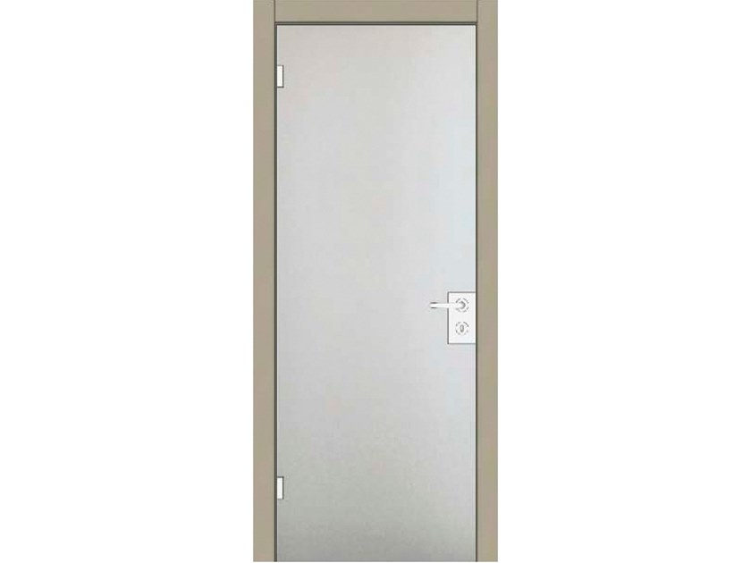 Hinged wood and glass door IRIDE 35V1 LACCATO CALCE by GD DORIGO