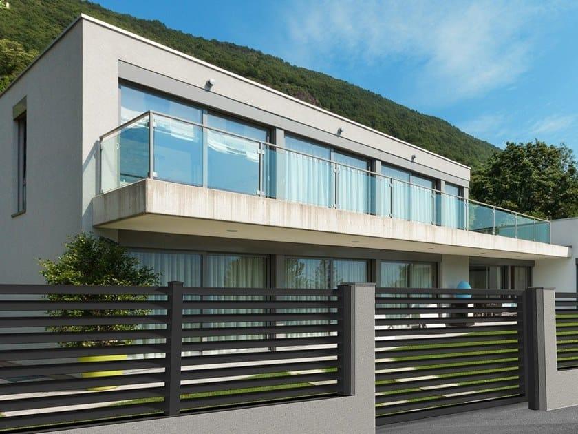 Cancelli Moderni Per Ville.Extruded Aluminium Fence Gate Maia By Alba