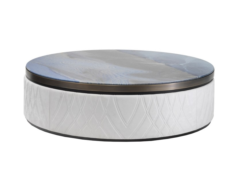 Low round coffee table IRIDE | Low coffee table by Smania