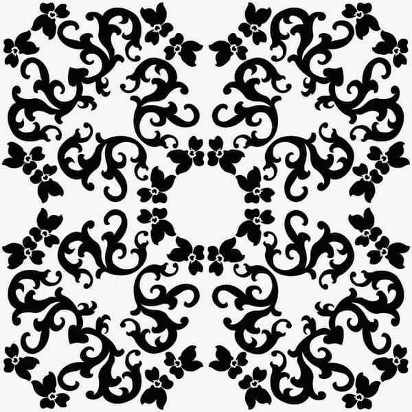 Ceramic wall tiles IRIS 1 NERO by Ceramica Bardelli