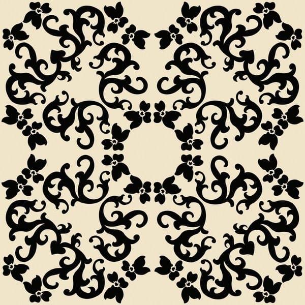 Ceramic wall tiles IRIS 2 NERO by Ceramica Bardelli