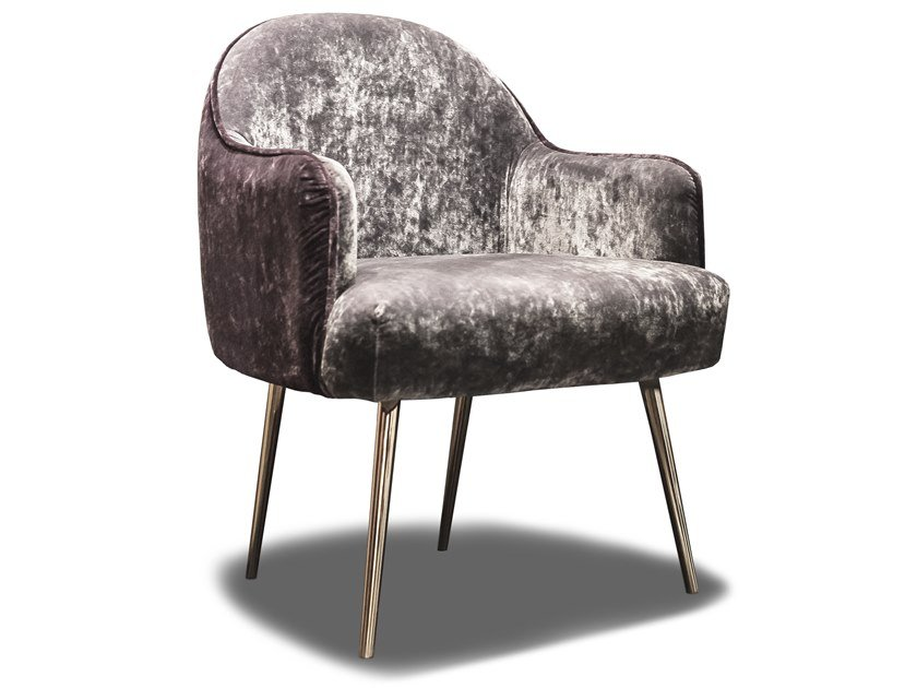 Velvet easy chair IRIS by HEBANON