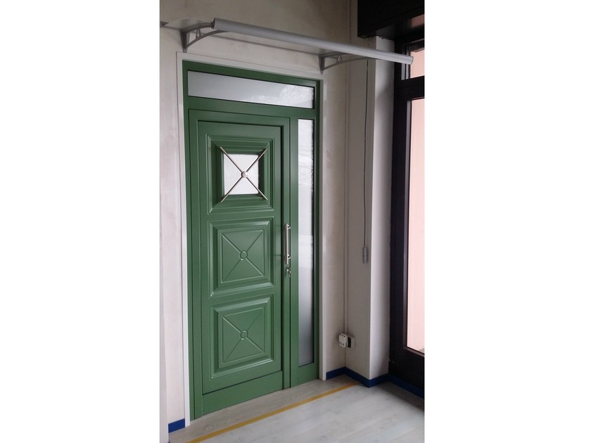 Glass and aluminium armoured door panel IRIS/K1 by ROYAL PAT