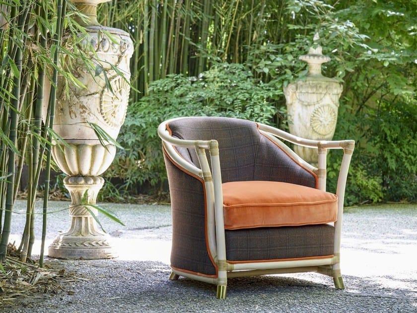 Rattan garden armchair with armrests IRIS LUXURY | Garden armchair by Dolcefarniente