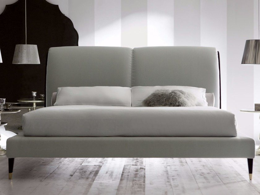Double bed with upholstered headboard IRIS by OPERA CONTEMPORARY