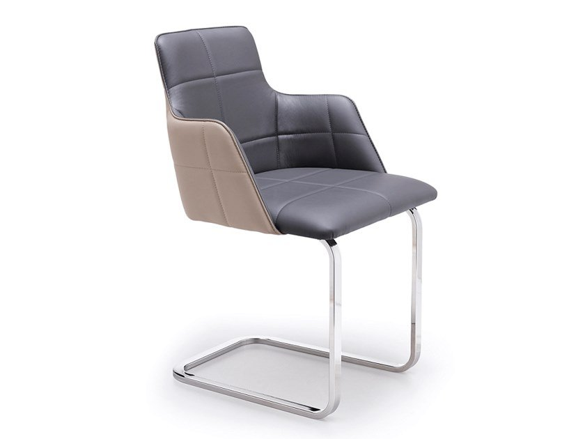 Cantilever upholstered chair IRIS P | Cantilever chair by Natisa