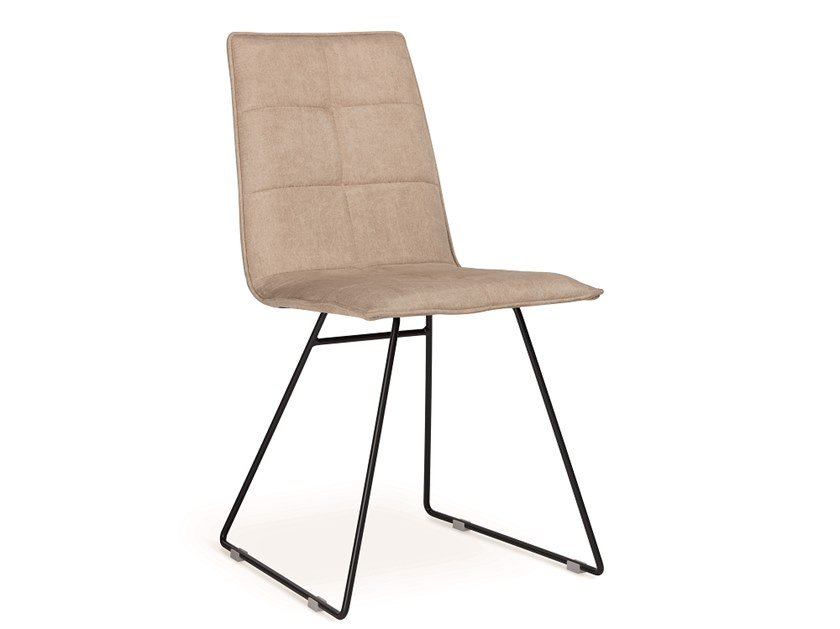 Sled base upholstered chair IRIS | Sled base chair by Natisa