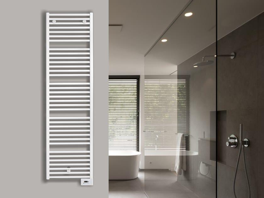 Wall-mounted steel towel warmer IRIS by VASCO
