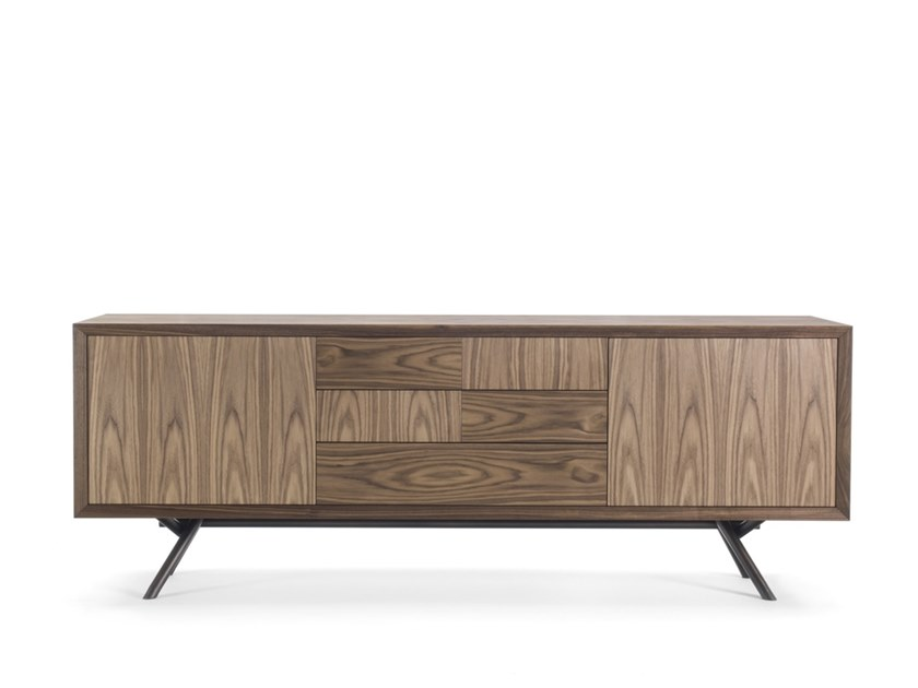 Sideboard with doors with drawers IRON LOW by Riva 1920