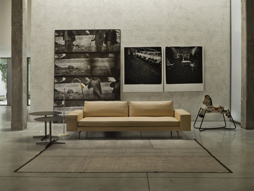 Sectional leather sofa IRVING | Leather sofa by Verzelloni