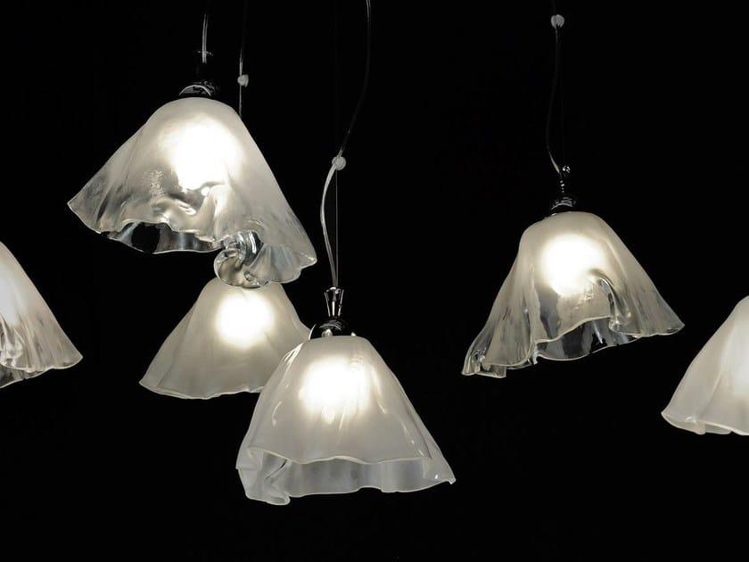 Glass pendant lamp IRIS by Baranska Design