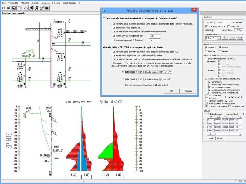 Software per progetto di strutture di contenimento is for Progetto software