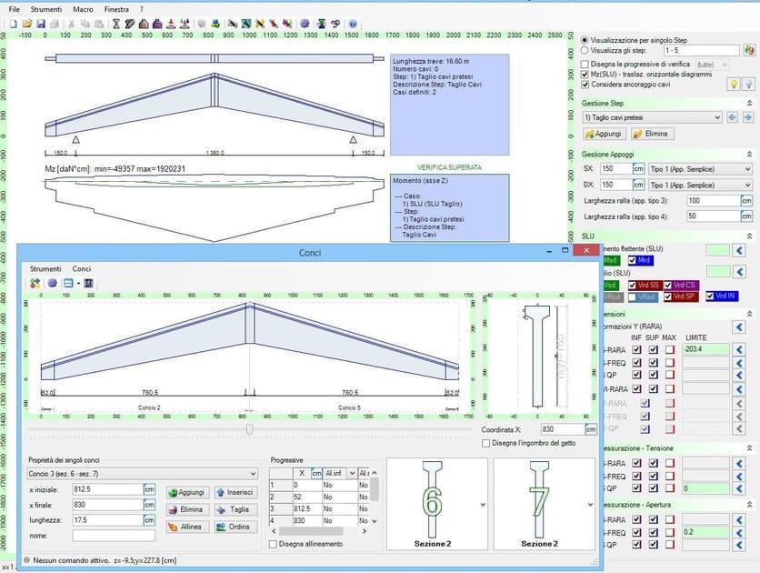 Structural calculation for pre-compressed reinforced concrete IS TRAVECAP by CDM Dolmen