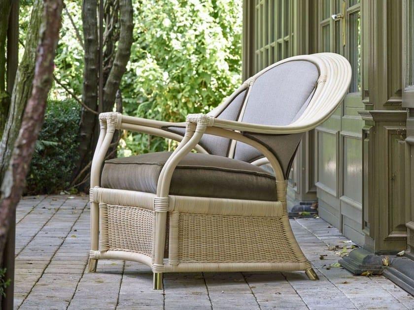 Rattan garden armchair with armrests ISABELLA LUXURY   Garden armchair by Dolcefarniente