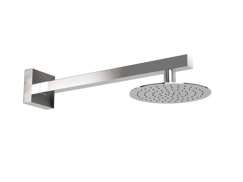 Wall-mounted stainless steel outdoor shower ISCHIA R by Inoxstyle