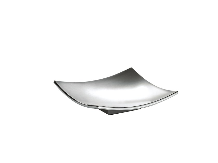 Countertop chromed brass soap dish ISIDE 376050002 | Countertop soap dish by pomd'or