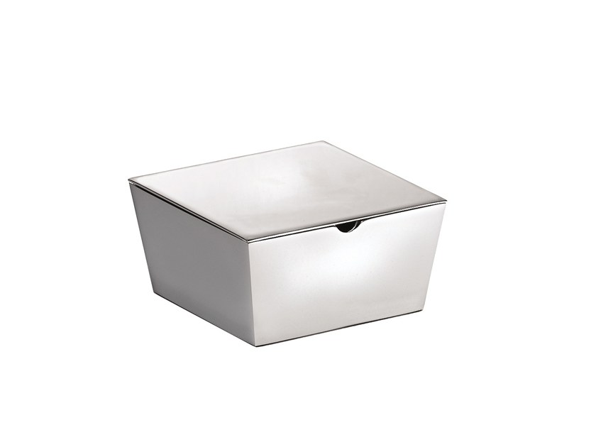 Chromed brass storage box ISIDE 377502002 | Storage box by pomd'or