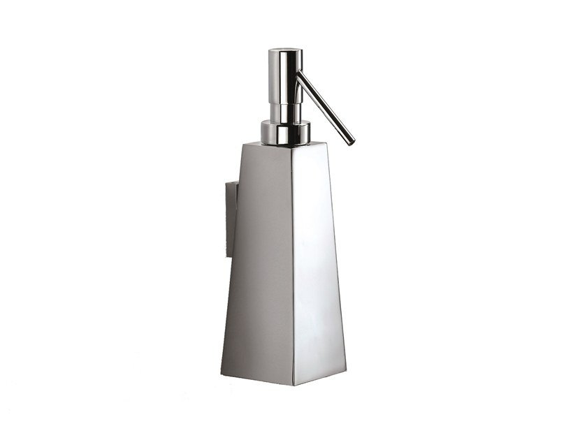 Wall-mounted chromed brass liquid soap dispenser ISIDE 377801002 | Wall-mounted liquid soap dispenser by pomd'or
