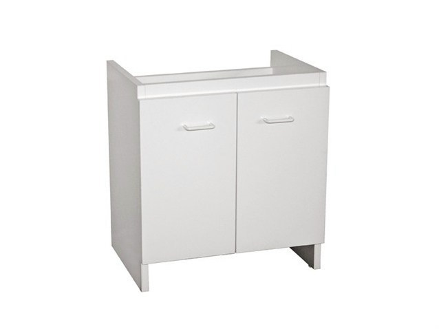 Laundry room cabinet with hinged doors ISIDE 60 | Laundry room cabinet by GALASSIA