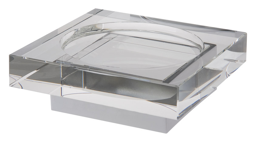 Countertop glass soap dish ISIDO | Countertop soap dish by LINEAG