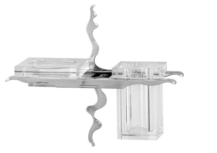 Portasapone / portaspazzolino in vetro ISIDO by LINEAG