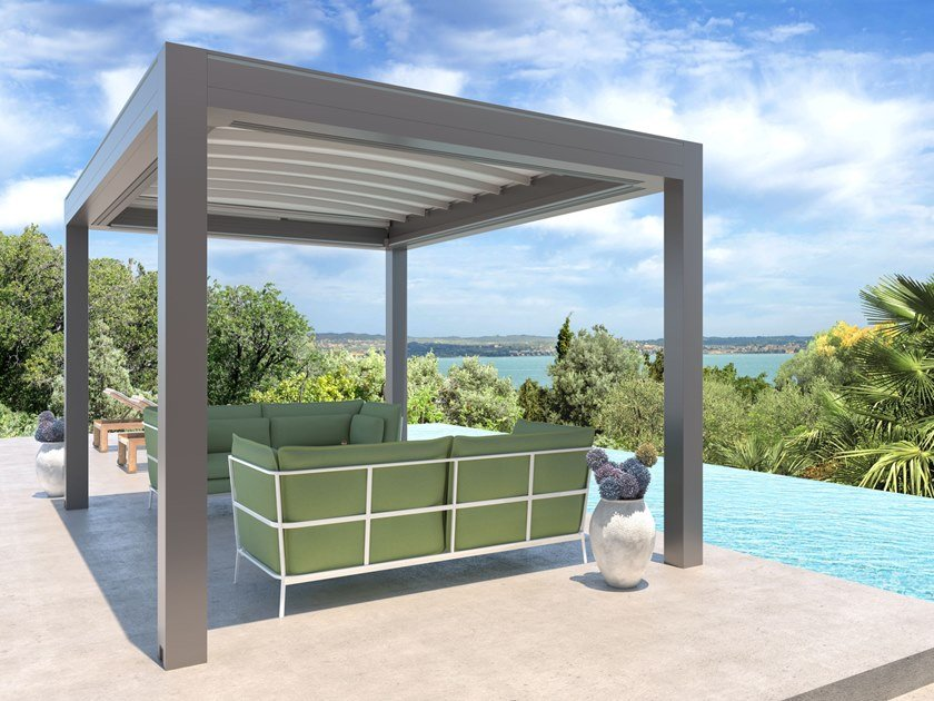 Freestanding pergola with sliding cover ISOLA 3 | Freestanding pergola by KE Outdoor Design