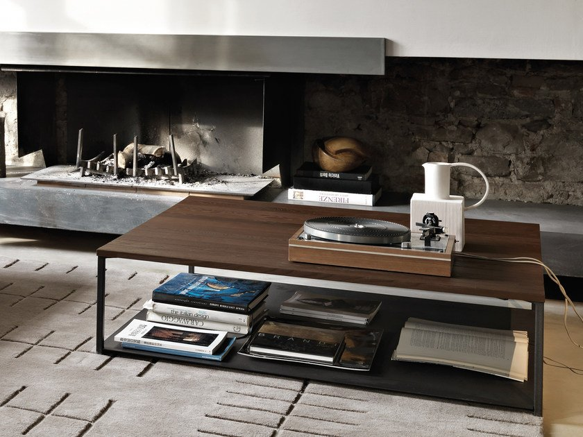 Oak coffee table for living room ISOLA | Oak coffee table by Arketipo