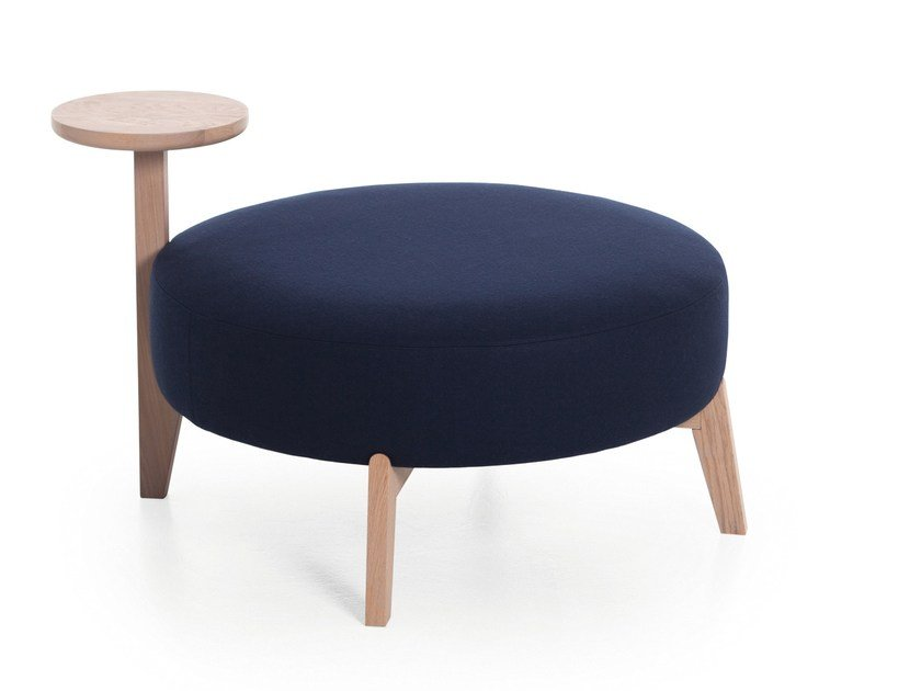 Round fabric pouf ISOLA 65T/90T by Very Wood