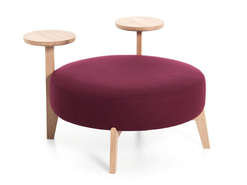 Round fabric pouf ISOLA 90TO/90TR by Very Wood